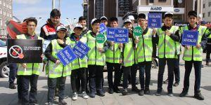 Erzurum'da Trafik Haftası etkinliği