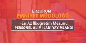 Erzurum Emniyet Müdürlüğü Temizlik Görevlisi Alıyor