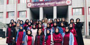 Şehit Hasan Yılmaz KAİHL Proje Okulu öğrencileri Adliye'de