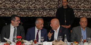 Erzurum protokolü, Rektör Çomaklı'nın iftar davetinde bir araya geldi