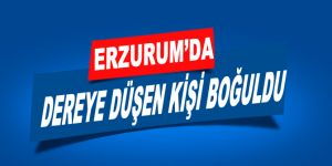 Erzurum'da dereye düşen kişi boğuldu