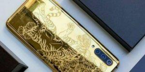 24 ayar saf altın kaplama Xiaomi Mi 9