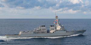 Savaş gemisi bölgeye giriş yaptı