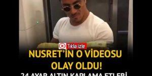 Nusret'ten altın kaplama hamburger videosu
