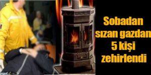 Erzurum'da 5 kişi sobadan sızan gazdan zehirlendi