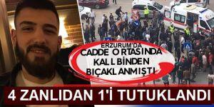 Erzurum'daki bıçaklı kavgada 1 kişiye tutuklama
