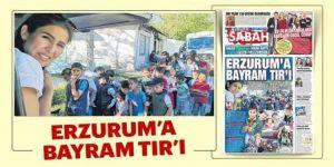 Erzurum'a bayram TIR'ı!