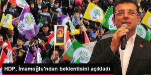 HDP, Ekrem İmamoğlu'ndan beklentisini açıkladı
