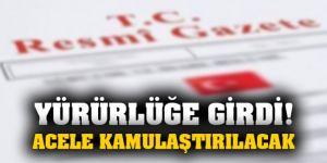 Erdoğan'ın imzasıyla yayımlandı! 2 ilde acele kamulaştırma kararı