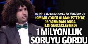 O Erzurumlu 1 milyon liralık soruyu açtırdı!