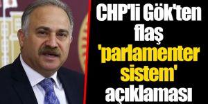 CHP'li Gök'ten flaş 'parlamenter sistem' açıklaması