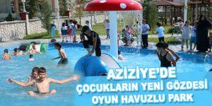Aziziye'de çocukların yeni gözdesi oyun havuzlu park