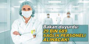 Sağlık Bakanlığı'na 29 bin 689 personel alınacak