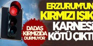 Erzurum en çok kırmızı ışık ihlali yapan iller arasında