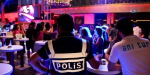 300 polis barlar sokağını didik didik aradı