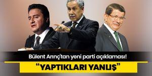 Arınç'tan Babacan ve Davutoğlu'na tepki