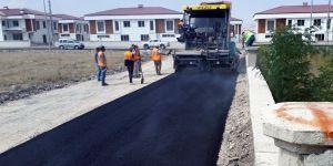 Aziziye'de asfalt kaplama çalışmaları son sürat devam ediyor