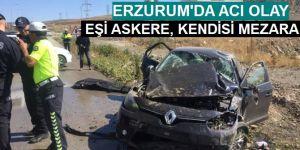 Erzurum'da trafik kazası: 1 ölü, 4 yaralı