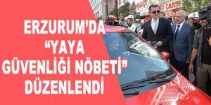 """Erzurum'da """"Yaya Güvenliği Nöbeti"""" düzenlendi"""