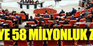 Meclis bütçesine 58 milyonluk zam!