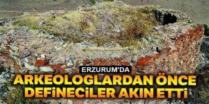 Erzurum'da Defineciler 2500 rakımdaki kaleyi bile kazdılar