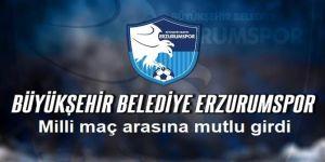 Erzurumspor milli maç arasına mutlu girdi