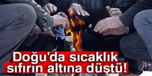 Doğu Anadolu'da 5 ilde sıcaklıklar sıfırın altına düştü