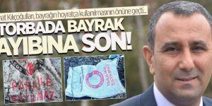 Erzurumlu gazeteci bayrak ayıbına son verdirdi!