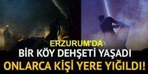 Erzurum'da Gece çıkan yangın 6 evi küle çevirdi