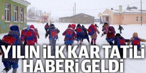 Refahiye'de taşımalı eğitime kar arası