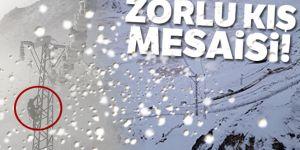 Zorlu kış mesaisi!