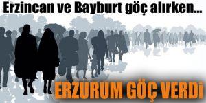 Erzurum YİNE göç verdi!