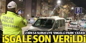 Engelli parklarını işgal eden 2 bin 54 sürücüye ceza kesildi