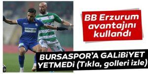 Galibiyet Bursaspor için yeterli olmadı: Tur BB Erzurumspor'un