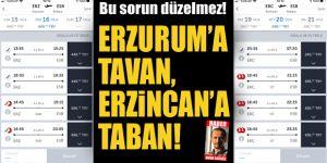 Erzurum'a tavan, Erzincan'a taban!