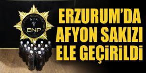 Erzurum'da 14 kilo 450 gram Afyon sakızı yakalandı