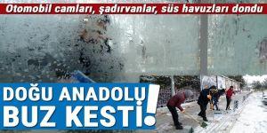 Doğu Anadolu buz kesti: Erzurum, Ağrı ve Kars eksi 20'leri gördü
