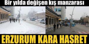 Erzurum'un bir yılda değişen kış manzarası