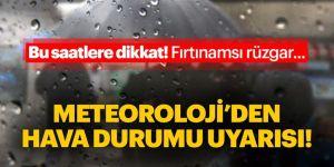Doğu Anadolu için fırtına uyarısı