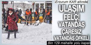 Erzurum ve Doğu kara teslim oldu!