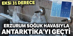 Erzurum buz tuttu: Eksi 31