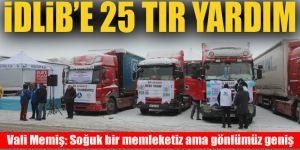 Erzurum'dan İdlib'e 25 tır yardım