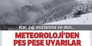 Doğu Anadolu'da 6 il için buzlanma, don ve çığ uyarısı