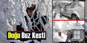 Doğu Anadolu buz kesti!