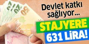 Stajyere 631 lira! 420 lira devlet katkısı