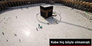 Suudi Arabistan'ın koronavirüsten dolayı umreyi yasaklamasından sonra Kabe boş kaldı