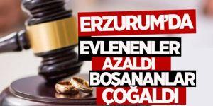 Erzurum'da evlenen azaldı boşanma arttı!