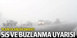 Doğu Anadolu'da buzlanma, don olayı ve çığ uyarısı
