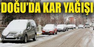 Baharda gelen kar Doğu Anadolu'daki 3 kenti yeniden beyaza bürüdü