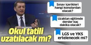 Okul tatili uzayacak mı? Milli Eğitim Bakanı Ziya Selçuk canlı yayında açıkladı.